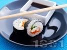 Рецепта Суши Футо Маки със скариди и зеленчуци
